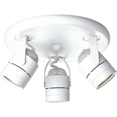 Itasca 50W Pinhole Back Directional Ceiling Semi Flush Mo Finish: White