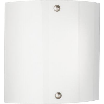 Glass Fluorescent Wall Sconce in Brushed Nickel