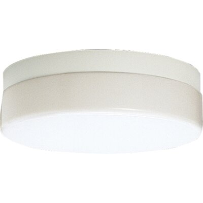 Hard-Nox 1-Light Flush Mount Size: 13-3/4 Diameter, Height: 3-1/4