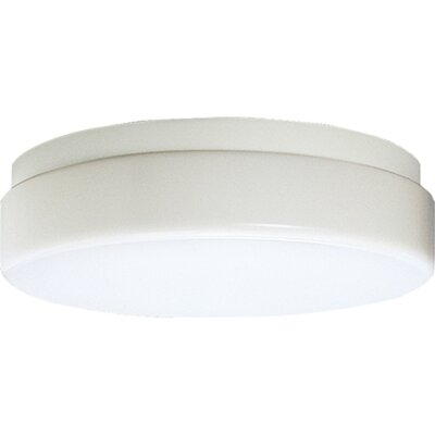 Hard-Nox 1-Light Flush Mount Size: 19 Diameter, Height: 4-1/4