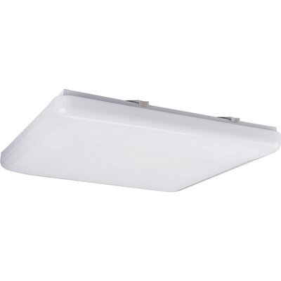 15 Square White Ceiling Cloud Size: 19 Diameter, Height: 3-1/8