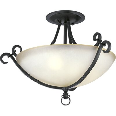 Jakes 3-Light Semi Flush Mount