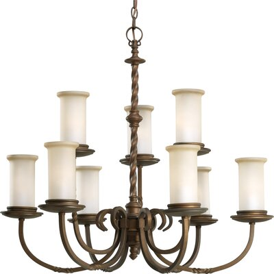 Jakes 9-Light Shaded Chandelier Finish: Roasted Java