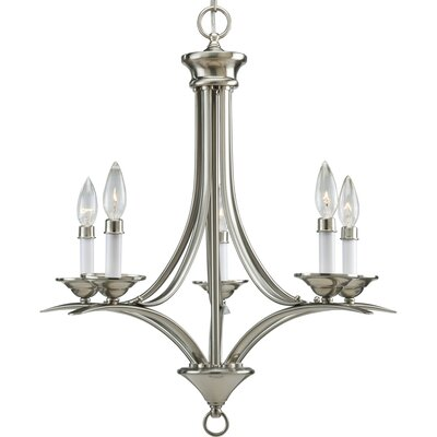 Roquefort 5-Light Candle-Style Chandelier Finish: Brushed Nickel