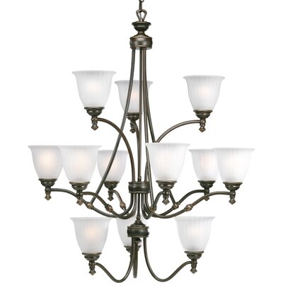 Renovations 12-Light Shaded Chandelier Finish: Forged Bronze