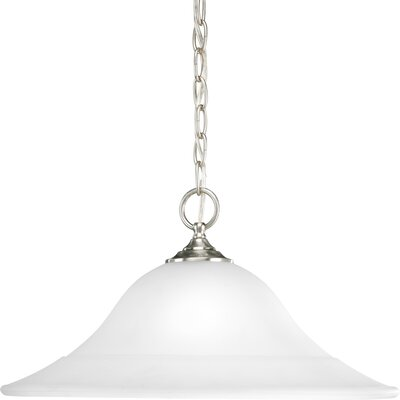Trinity 1-Light Pendant Finish: Brushed Nickel, Energy Star: Yes