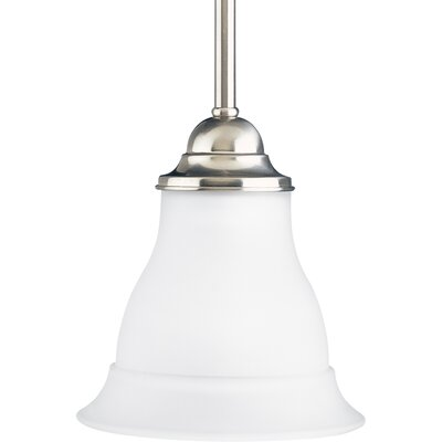 Roquefort 1-Light Stem-Hang Mini Pendant Finish: Brushed Nickel
