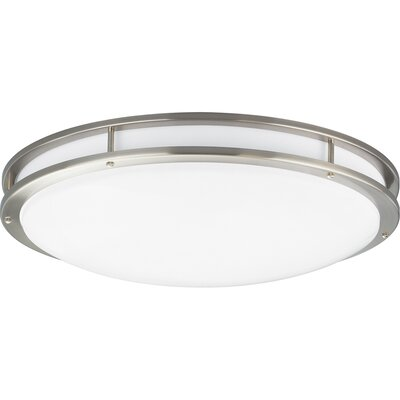 Circuline 2-Light Flush Mount Finish: Brushed Nickel, Size: 6.5 H x 31.75 W