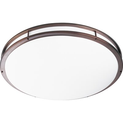Circuline 2-Light Flush Mount Finish: Urban Bronze, Size: 4.5 H x 17.625 W