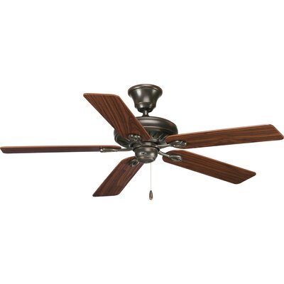 52 Foxburg 5-Blade Ceiling Fan Finish: Antique Bronze with Cherry / Walnut Blades