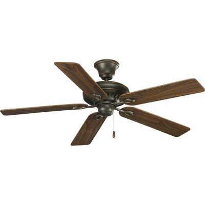 52 Foxburg 5-Blade Ceiling Fan Finish: Forged Bronze with Cherry / Walnut Blades