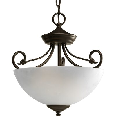 Pavilion Semi Flush Finish: Antique Bronze