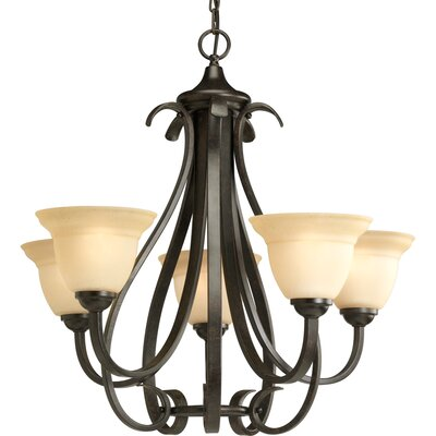 Torino 5-Light Shaded Chandelier Finish: Forged Bronze