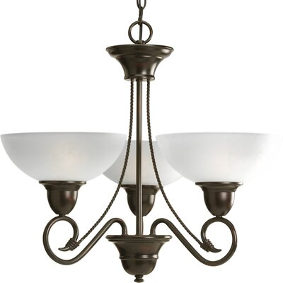 Pavilion 3-Light Shaded Chandelier Finish: Antique Bronze