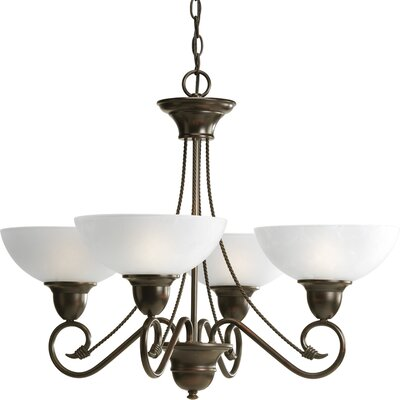 Pavilion 4-Light Shaded Chandelier Finish: Antique Bronze