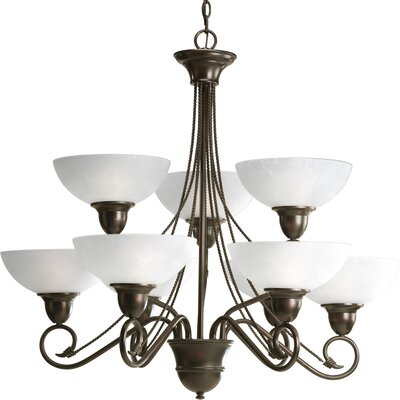 Pavilion 9-Light Shaded Chandelier Finish: Antique Bronze