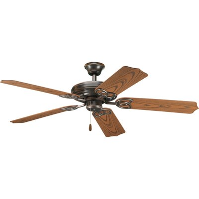 52 Gaylene 5-Blade Ceiling Fan Finish: Antique Bronze with Oak Blades