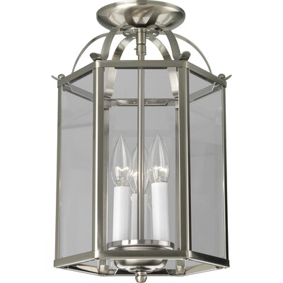 Littlefield 3-Light Foyer Pendant Finish: Brushed Nickel