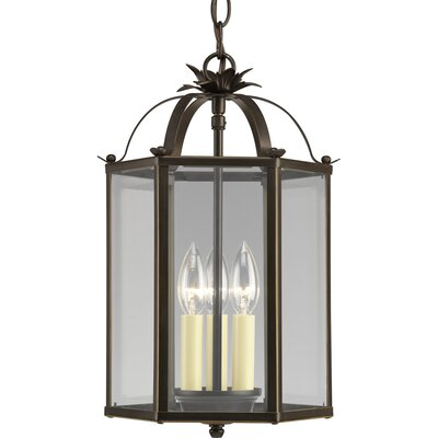 3-Light Foyer Pendant Finish: Antique Bronze