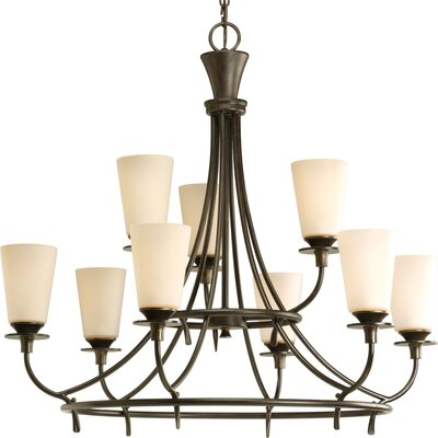 Cantata 9-Light Shaded Chandelier