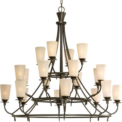 Cantata 20-Light Shaded Chandelier