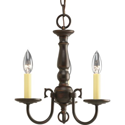 Doyle 3-Light Candle-Style Chandelier Finish: Antique Bronze
