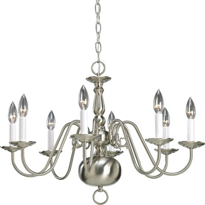 Americana 8-Light Candle-Style Chandelier Finish: Brushed Nickel