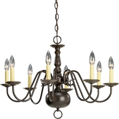Americana 8-Light Candle-Style Chandelier Finish: Antique Bronze