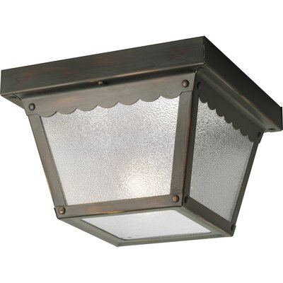 Reinhart Flush Mount Size: 9.25 W - 2 Bulbs, Finish: Antique Bronze