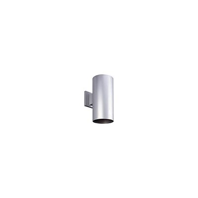 Cylinder 1-Light Semi Flush Mount Shade Color: Metallic Gray