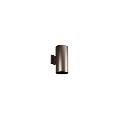 Cylinder 1-Light Semi Flush Mount Shade Color: Antique Bronze