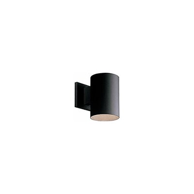 Cylinder 1-Light Semi Flush Mount Shade Color: Black