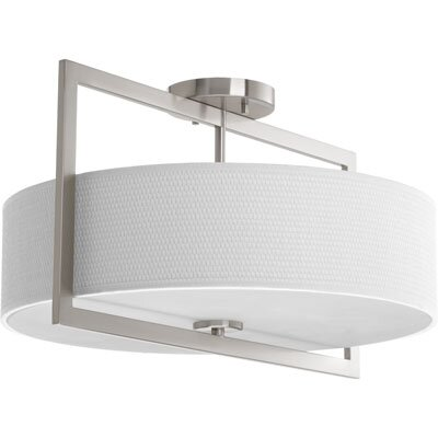 Urmee 3-Light Flush Mount Size: 11.25 H x 18 W