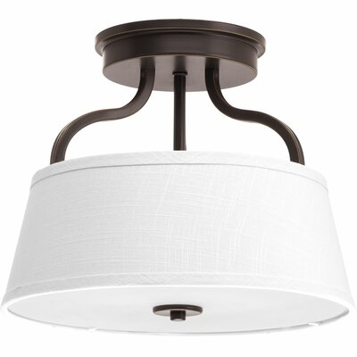 Arden 2-Light Semi-Flush Mount Finish: Antique Bronze