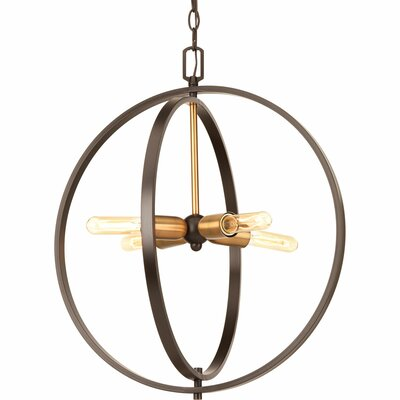 Jaunita 4-Light Foyer Pendant Size: 28.25 H x 25 W