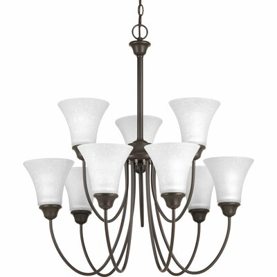 Adama 9-Light Shaded Chandelier Finish: Antique Bronze