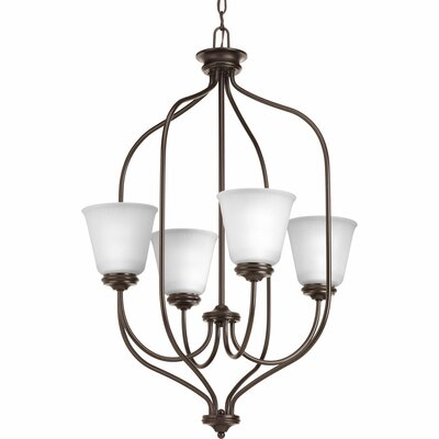 Keats 4-Light Foyer Pendant Finish: Antique Bronze