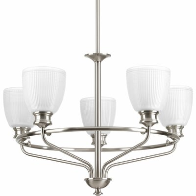 Lucky 5-Light Shaded Chandelier Finish: Brushed Nickel