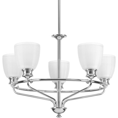 Feissal 5-Light Shaded Chandelier Finish: Polished Chrome