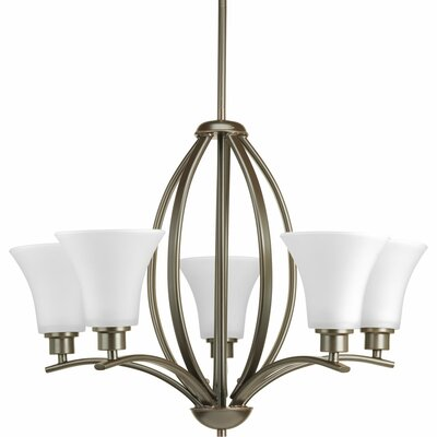 Jilliann Etched 5-Light Shaded Chandelier