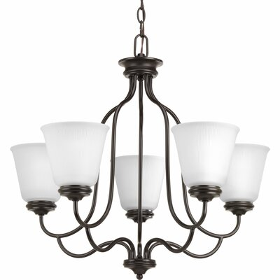 Keats 5-Light Shaded Chandelier Finish: Antique Bronze