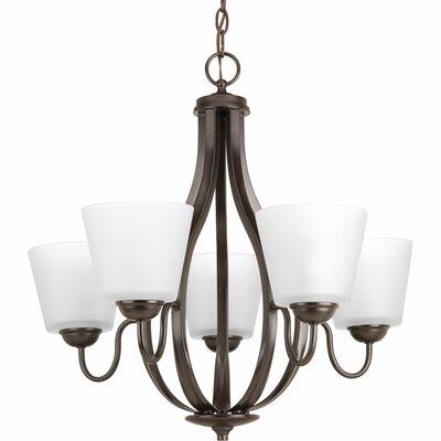 Arden 5-Light Shaded Chandelier Finish: Antique Bronze