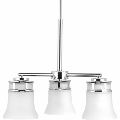 Tashina 3-Light Shaded Chandelier Finish: Polished Chrome