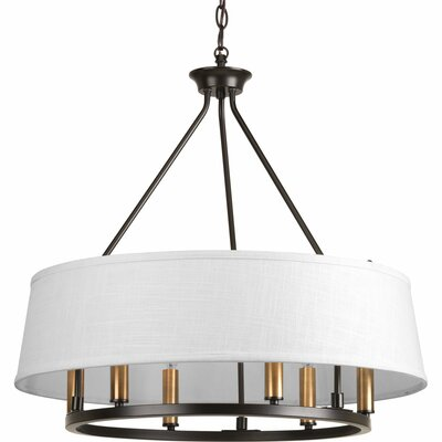 Cherish 6-Light Drum Chandelier Finish: Antique Bronze