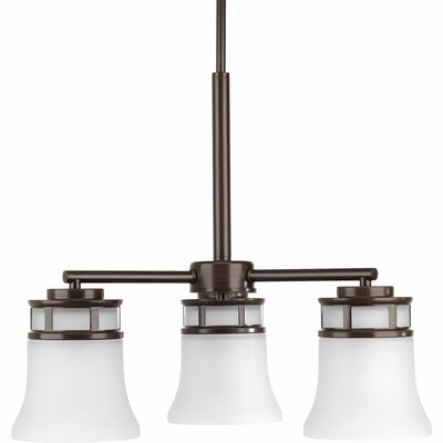 Cascadia 3-Light Shaded Chandelier Finish: Antique Bronze
