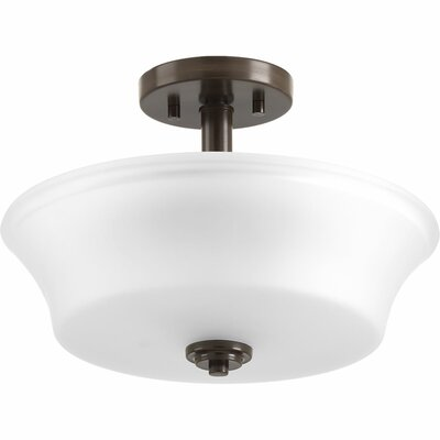 Tashina 2-Light Semi-Flush Mount Finish: Antique Bronze