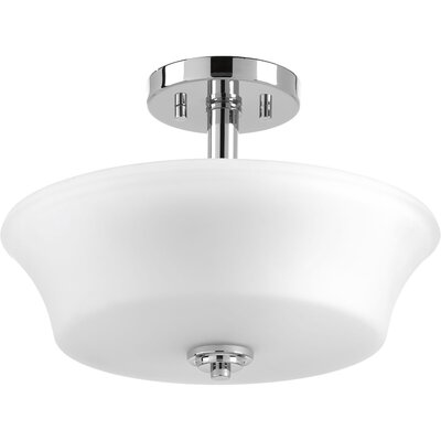 Tashina 2-Light Semi-Flush Mount Finish: Polished Chrome