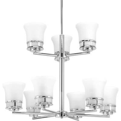 Cascadia 9-Light Shaded Chandelier Finish: Polished Chrome