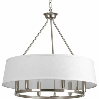 Hughett 6-Light Drum Chandelier Finish: Brushed Nickel
