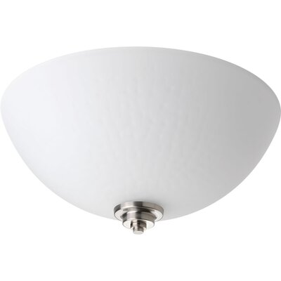 Pelovitz 2-Light Flush Mount Finish: Brushed Nickel